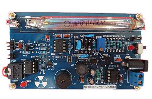 Geigerzähler mit tragbarem Griff, 0,01 μSv/h, Set für Heimwerker, nuklearer Strahlungsdetektor mit Miller-GM-Rohr, Gamma- und Betastrahlung, geeignet für Arduino