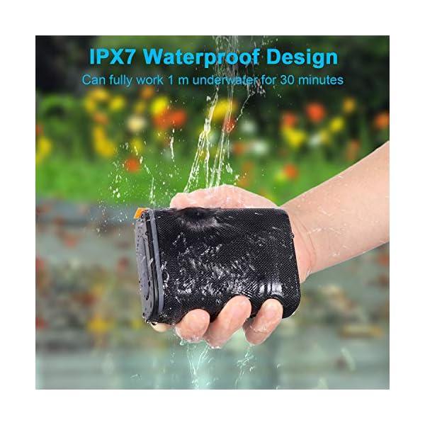 IPX7 Waterproof Bluetooth Speaker, Hadisala H3 Portable Wireless Speaker Bluetooth 5.0 with Rich Bass HD Stereo Sound…