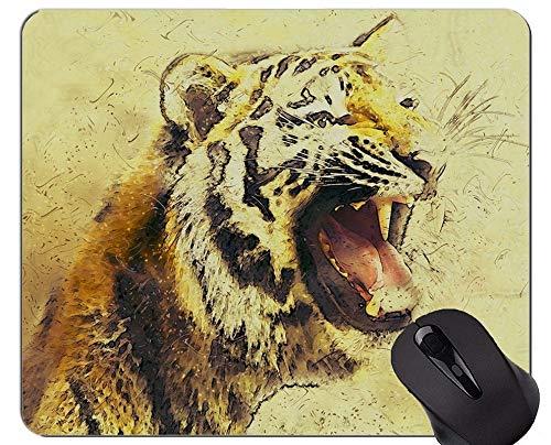 Yanteng La Alfombrilla de ratón Tiger de la Mariposa, Alfombrillas de ratón de Animales con Bordes cosidos