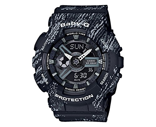 Casio Women's Baby G BA110TX-1A Black Rubber Quartz Sport Watch