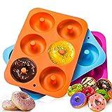 Dulabei 3 stücks Silikon Donutform Donut Backform Form Blatt Behälter Macht perfekte 3-Zoll-Donuts