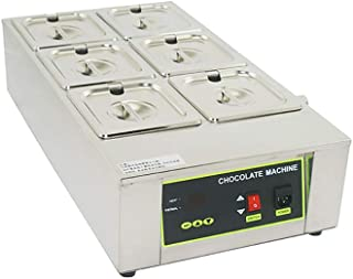 F-JX Chocolate Melting Furnace, Commercial Baking Thermostat, Stainless Steel Chocolate Heating Pot, 6 Cylinders