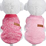 2PiecesPetClothingWinterPuppyClassicWarmCoatWinterPuppySweaterPuppyKnitwearClothes for Medium and Small Dogs