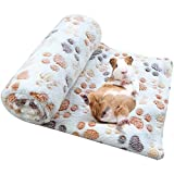 Spring Fever Hamster Guinea Pig Rabbit Dog Cat Chinchilla Hedgehog Small Animal Soft Warm Pet Fleece Blanket Cover Mat Hideout Cage Accessorie Beige S