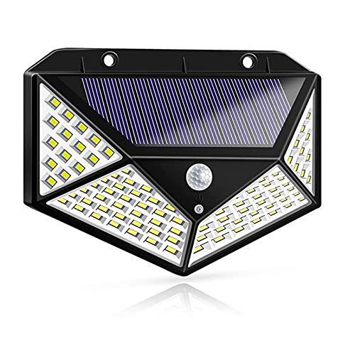 lxxiulirzeu Luces de jardín Solar al Aire Libre 100 Leds 3 Modos de Ajuste Sensor de Movimiento inalámbrico Luz IP65 Potencia Solar a Prueba de Agua Lámpara de Pared (Emitting Color : 1 PCS)