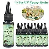 10 Unidades 30 ML de Cristal de Resina Epoxi UV Pegamento Nail Art Herramientas Para...