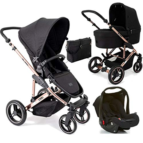 Carrinho De Bebê Avito Race com Bebê Conforto Black - Abc Design