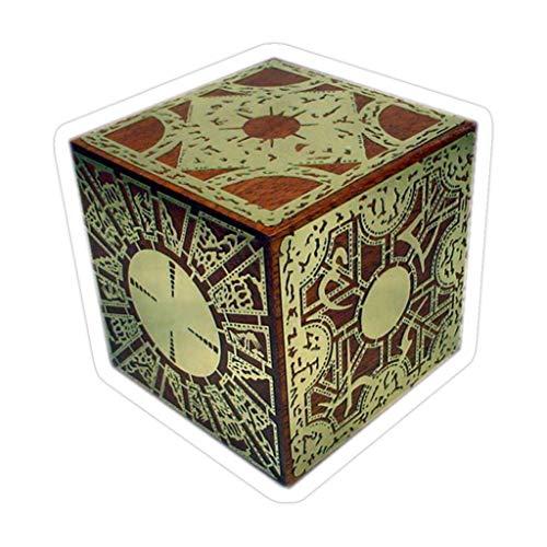 DKISEE The Lament Configuration Aka Hellraiser Puzzle-Box, 10,2 cm, gestanzte Aufkleber für Laptop, Fenster, Auto, Stoßstange, Wasserflasche, 3 Stück