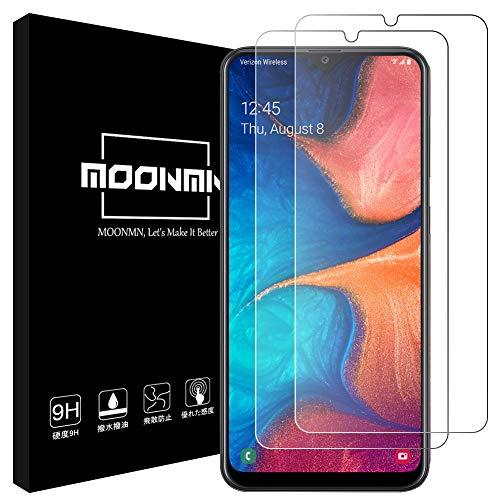 MOONMN【2020最新改良】Galaxy A20 ガラスフィルム日本製旭硝子材 耐衝撃 Galaxy A20 フィルム SC-02M SCV46 2.5D加工 ケースに対応 撥油性 超耐久 耐指紋 Galaxy A20 強化ガラスフィルム