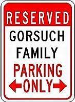 金属看板家族の駐車場ノベルティスズストリートサイン