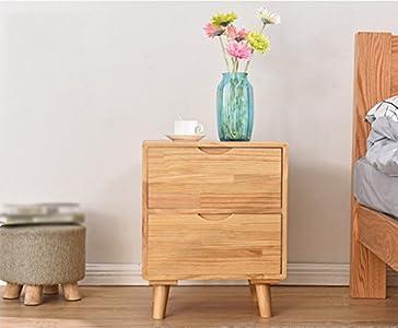 Bedside Tables LI Jing Shop - Muebles de Madera Maciza Mesillas de Noche Dormitorio Moderno de la Simplicidad Armario de almacenaje (Color : Color Madera)