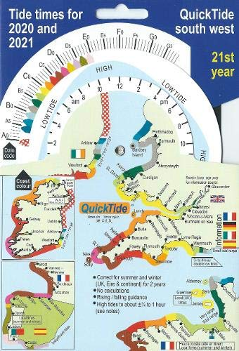 QuickTide south west: Tide times for 2020 and 2021:  21st year (QuickTide  (or mis-spelled: Quick Tide))