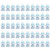 50 Stück Babyflasche Konfetti Halter Glas Bonbonform Babyflasche zum Setzen von Süßigkeiten Hochzeitsbevorzugungen und Babyparty Taufe Geschenke Dekoration ((blau))