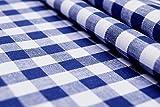 CENTRO - Karo blau weiß - 100 % Baumwolle - Vichykaro -