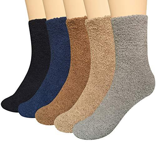5 paar Damen Winter Warme Flauschige Kuschelsocken Nettes Muster Design Hausschuhsocken