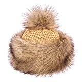 Futrzane Tartari Cappello Ecopelliccia Pom Pom Donna Di Inverno (Tundra Lupo)