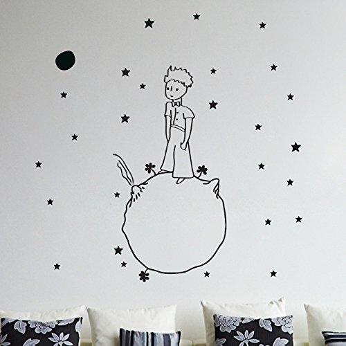 Little Prince Wand Aufkleber Vinyl Aufkleber Weihnachten Kinder Kinder Kunst-Silhouette