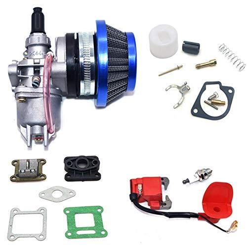 KTZAJO Carburador de motor de 47 cc 49 cc con filtro de aire de 2 tiempos para Mini Quad ATV Dirt Bike MiniMoto Go Kart Buggy Carburador (Color: I) (Color: R)