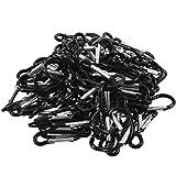 Rotagrod Llavero, color negro, pequeño, 100 unidades, color negro
