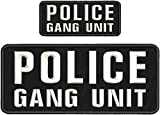 Embroidered Patch - Patches for Women Man - Police Gang Unit Hook White