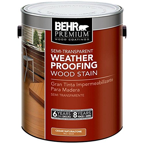 BEHR Premium 1 gal. #ST-533 Cedar Naturaltone Semi-Transparent Waterproofing Stain and Sealer