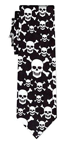 Cravate skulls and bones, blk