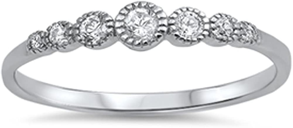 CHOOSE YOUR Max 80% Atlanta Mall OFF COLOR Sterling Ring Silver Round