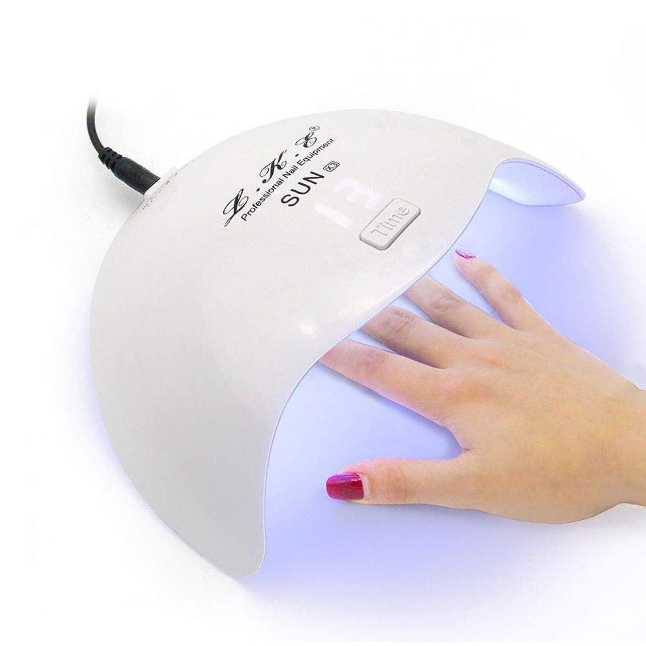 眉をひそめる車リークネイルドライヤーミニ24W UV LEDランプ硬化ネイルジェルポリッシュ誘導タイマーネイルアートツール家庭用機器用、絵のように色