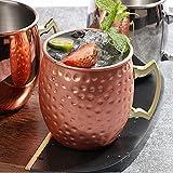 Moscow Mule - Tazza in acciaio inox 304 per uso alimentare - in acciaio inox per birra, caffè - bicchieri in rame - adatto per casa, bar, feste
