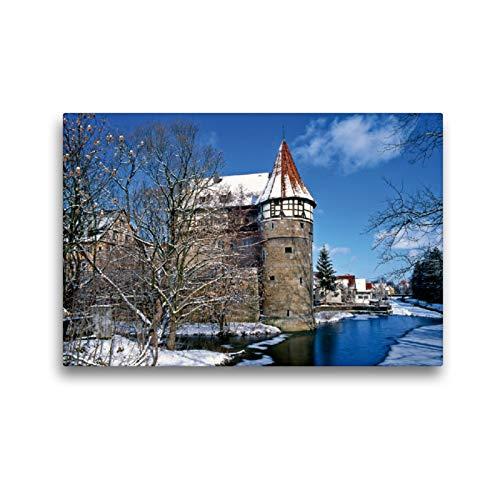 CALVENDO Premium Textil-Leinwand 45 x 30 cm Quer-Format Zollernschloss in Balingen am Rand der Schwäbischen ALB, Leinwanddruck Verlag