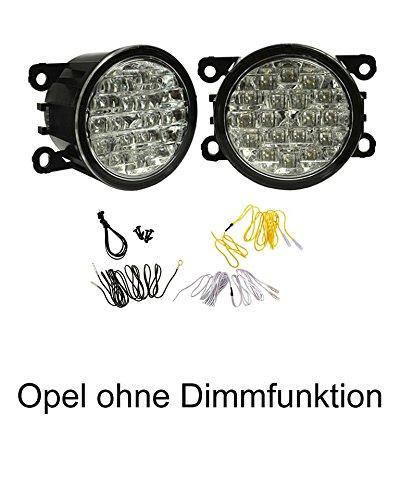 LED Tagfahrlicht ohne Dimmfunktion rund 90mm Durchmesser~