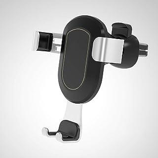 Car Phone Holder Air Outlet Phone Holder Mobile Gravity Bracket Car Accessories (color : BLACK)