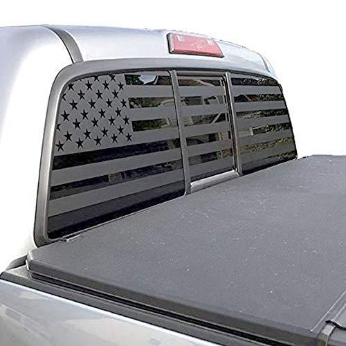 XPLORE OFFROAD - American Flag Window Decal for Trucks, SUVs, Cars (Black Die Cut)