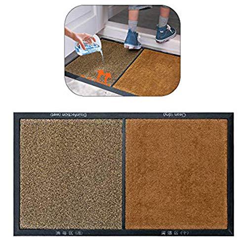 LCZ Dae Fußmatte zur Reinigung der Vordertür, wasserabsorbierendes Kissen, Matten und Teppichböden, Schuhe, Zapatose, Matt, Desinfektionsmittel, Schuhe, Braun