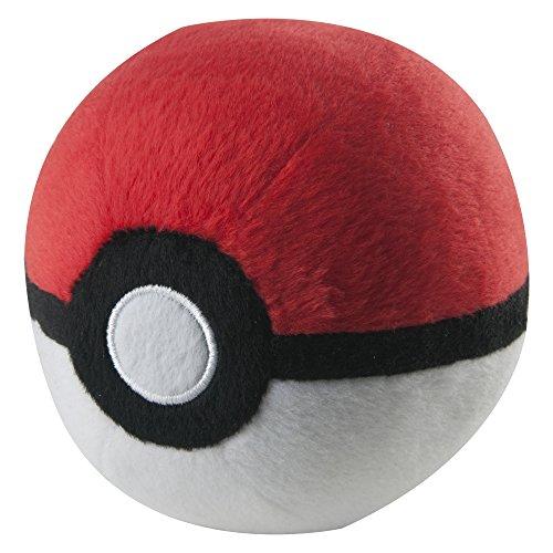 TOMY Pokémon Plüsch Pokéball in rot-weiß - hochwertiges Spielzeug für Kinder ab 3 Jahre