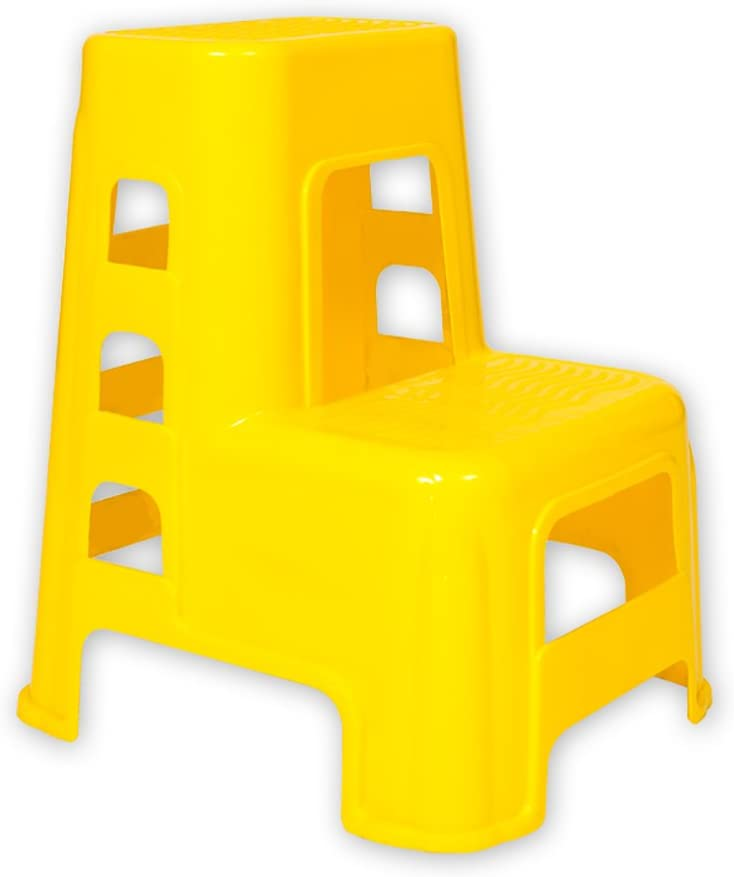 DNSJB Plastic 2 Step Stool Ladder Car Kids Adults Utility Don't miss the campaign for Award