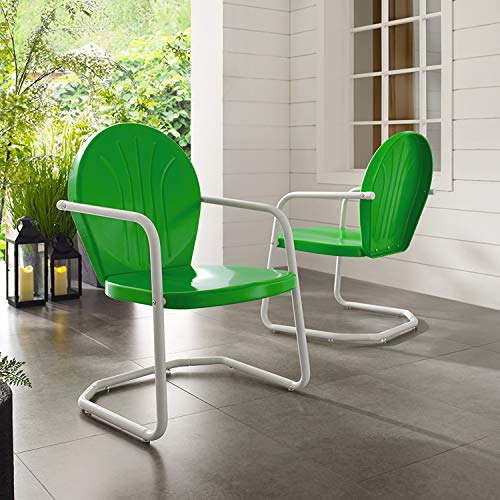 Crosley Furniture Griffith Metal Outdoor Chair - Grasshopper Green