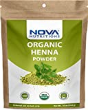 Nova Nutritions Certified Organic Henna Powder 16 OZ (454 gm) - 100% Natural & Chemical Free