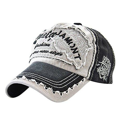 MINXINWY_ Gorras Sombrero de Mezclilla Unisex, Béisbol Vieja Letra del Parche Team Gorra de Béisbol Hombres y Mujeres Tapa de Mezclilla Actividad al Aire Libre Gorra Montaña