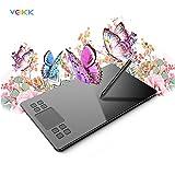 VEIKK A50 - Tableta de Dibujo con gráficos Digitales de 10 x 6 Pulgadas con 8192 Niveles de lápiz sin batería y Smart Gesture Touch y 8 Teclas de Acceso rápido