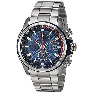 Men's Citizen Eco-Drive CA0429-53W Marvel Spider-Man Stainless Steel Watch