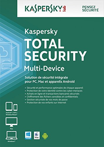 Kaspersky Total Security - Multi-Device 3 postes - 1 an [Téléchargement PC]