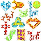 Luclay 12 bloques Magic Snake Cube Mini Serpiente Velocidad Cubos Twist Puzzle Juguetes para Niños Relleno Piñatas Regalitos Fiesta Cumpleaños Infantil