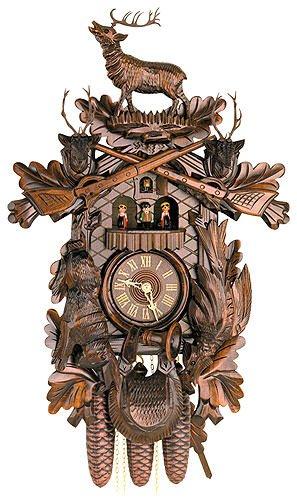 Kuckucksuhr/Schwarzwalduhr Geschnitzte Schwarzwälder Kuckucksuhren Kuckucksuhr 8-Tages-Uhrwerk geschnitzt 60cm von Hekasoriginal aus dem Schwarzwald von Hekas