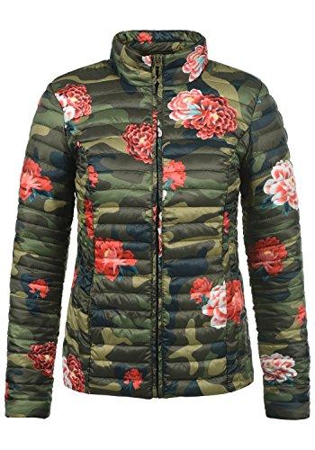 JACQUELINE de YONG Britta Damen Übergangsjacke Steppjacke leichte Jacke gefüttert mit Stehkragen, Größe:L, Farbe:Grape Leaf