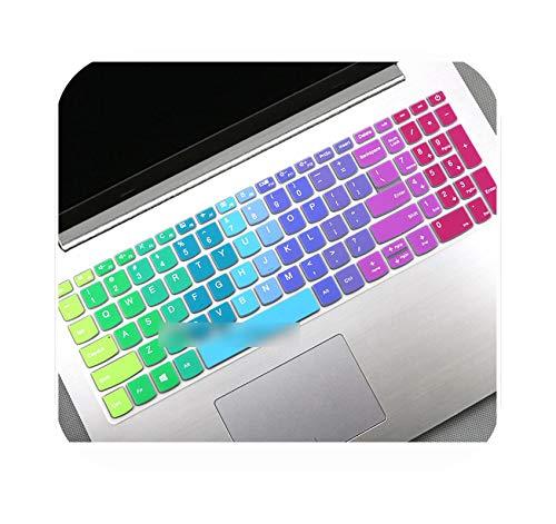 Teclado para teclado Lenovo IdeaPad S145 15 (15 Intel) (15 AMD) 15.6 pulgadas S145-15IWL s145-15ast s145-15 2019, cubierta teclado de silicona Color 2