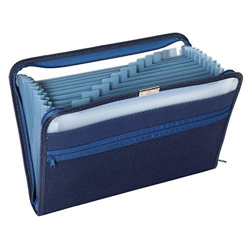 Pendaflex Fabric Poly Expanding File, 13 Pocket, Dark Blue, Each covid 19 (Globe Weis Fabric coronavirus)