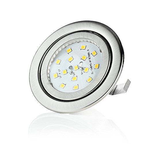 Sweet Led Spot LED, 230 V, 3 W, éclairage encastrable pour meuble, plat Ultra Plat einbaulampen Moderne 3000k-warm