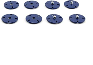 PZRT 4Set 21mm Large Metal Sew-on Snap Button for Clothing DIY Overcoat Buttons for Clothes Sewing Applications Accessories Royal Blue