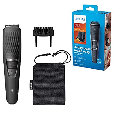 Philips Beard and Stubble Trimmer for Men, Series 3000, 20 Length Settings, 60 mins Run Time, Self-Sharpening Blades, UK 3-Pin Plug - BT3226/13